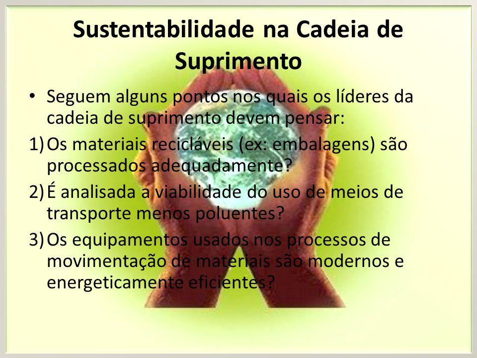 Sustentabilidade na Cadeia de Suprimento A sofisticação dos clientes está aumentando, assim como o acesso às informações.