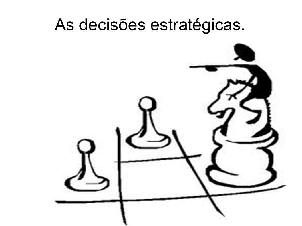 As decisões estratégicas.