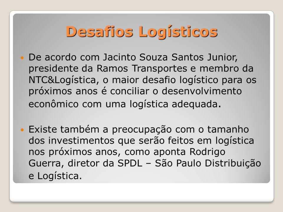 De acordo com Jacinto Souza Santos Junior, presidente da Ramos Transportes e membro da NTC&Logística, o maior desafio logístico para os próximos anos