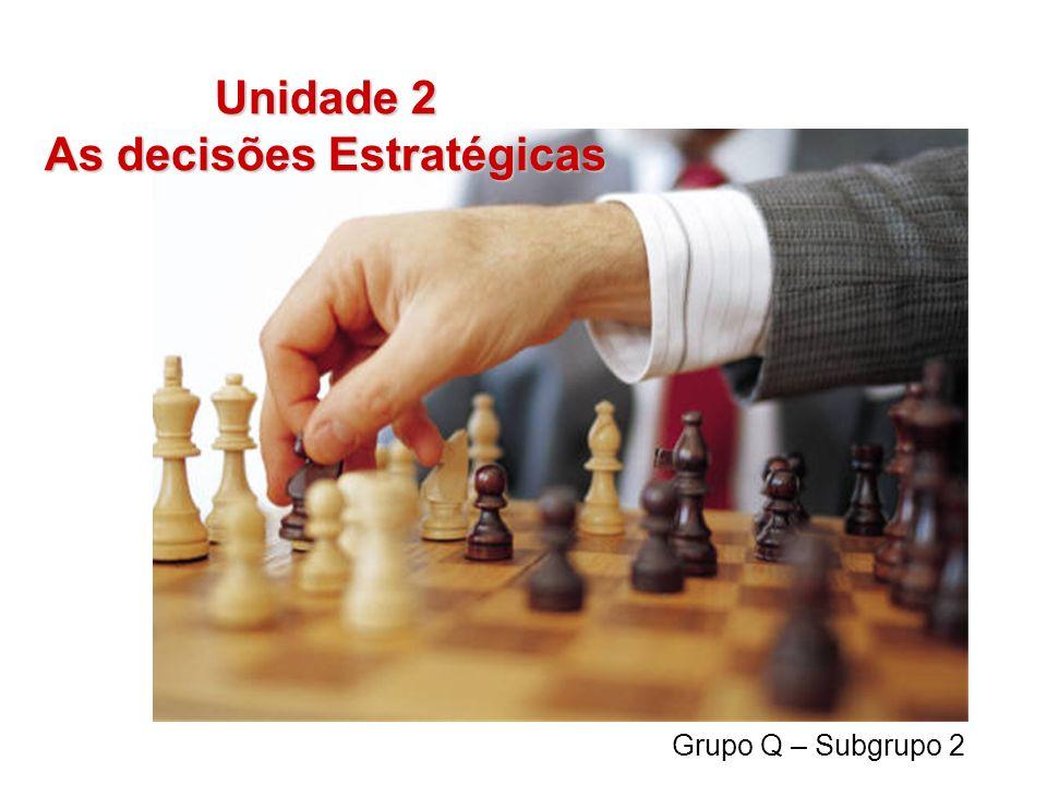 Unidade 2 As decisões Estratégicas Grupo Q – Subgrupo 2