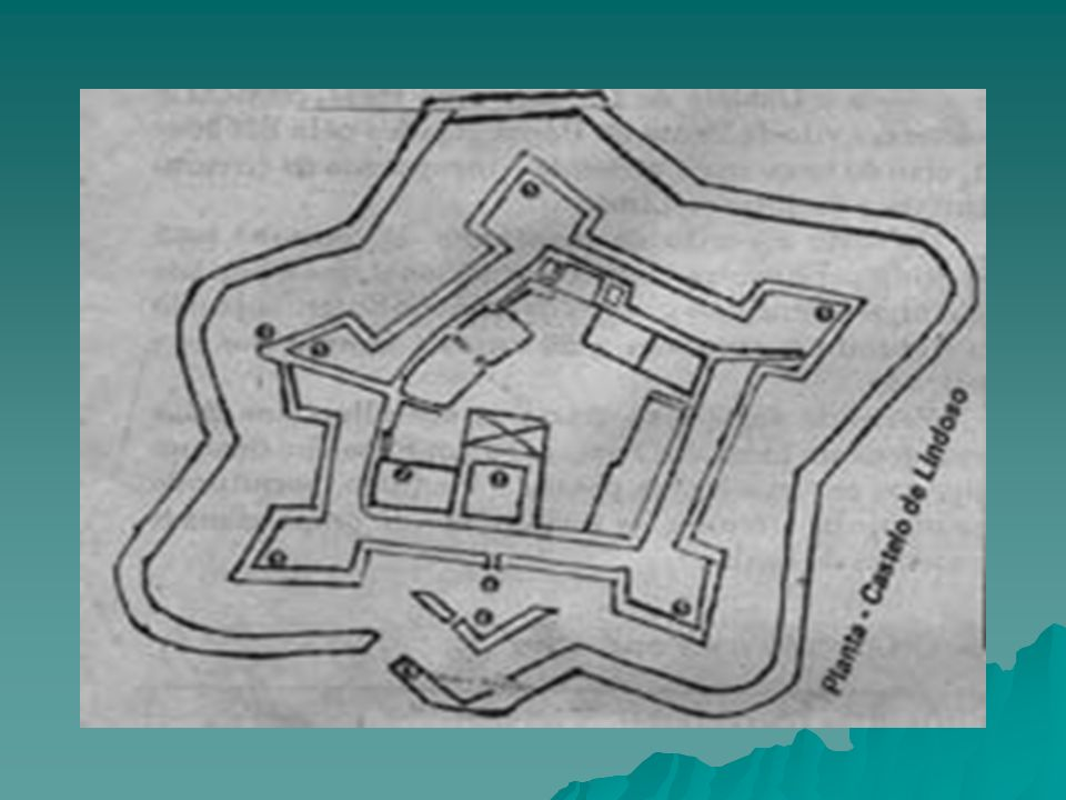 Os abalançados apresentam o aspecto de um pentágono irregular envolvendo completamente a fortaleza medieval e construídos por grossas muralhas, que fo