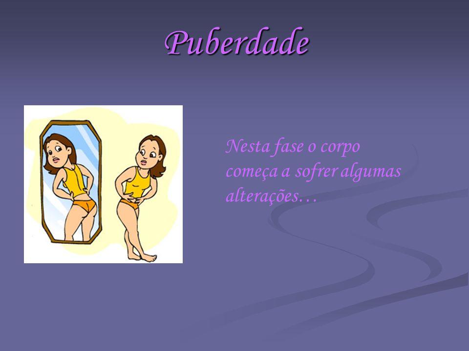 Puberdade Nesta fase o corpo começa a sofrer algumas alterações…