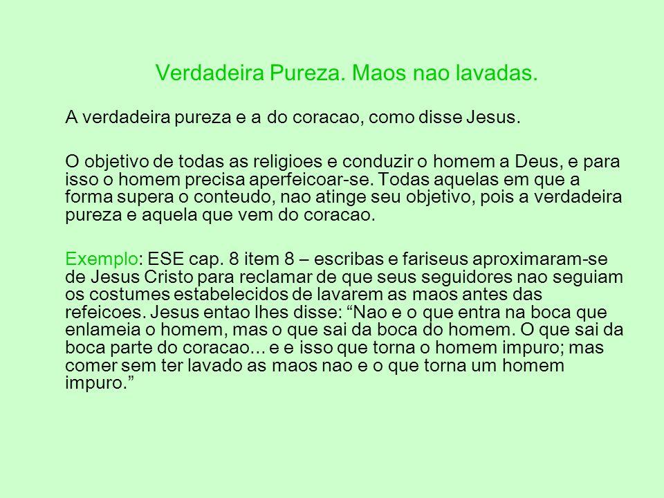 Entao, quando Jesus nos disse: Orai e Vigiai, ele disse: Todo mau pensamento resulta de imperfeicao da alma. Aquele que nao concebe nem sequer o pensa