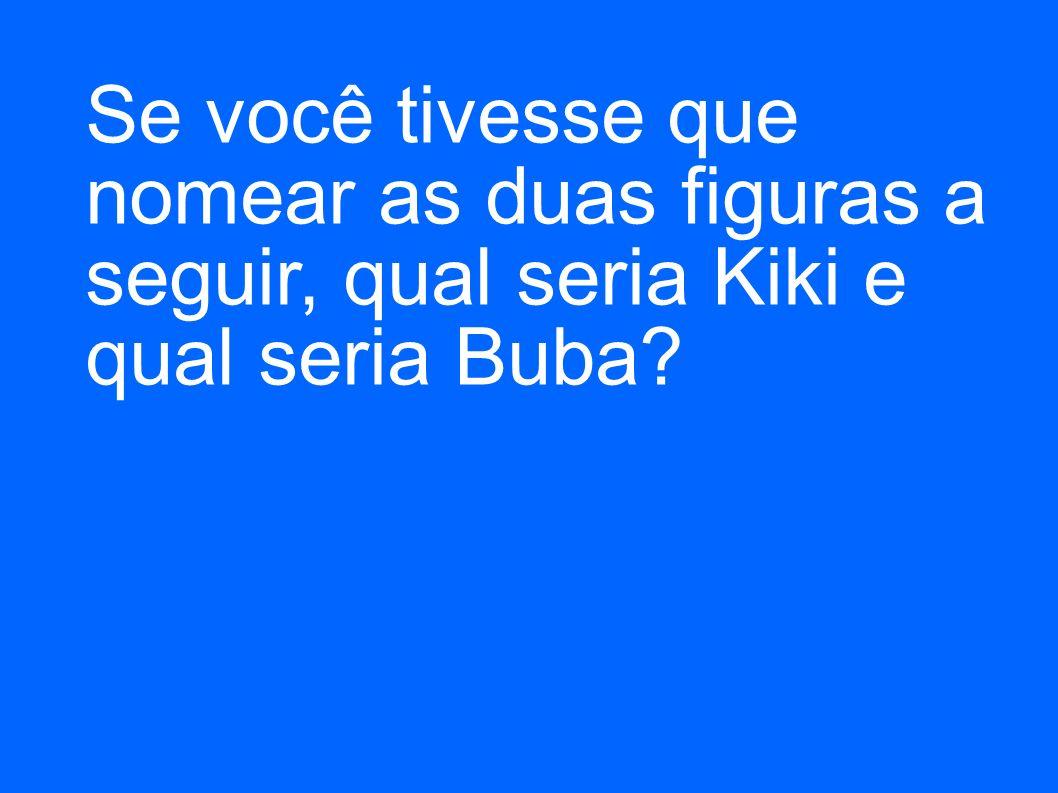 Se você tivesse que nomear as duas figuras a seguir, qual seria Kiki e qual seria Buba?