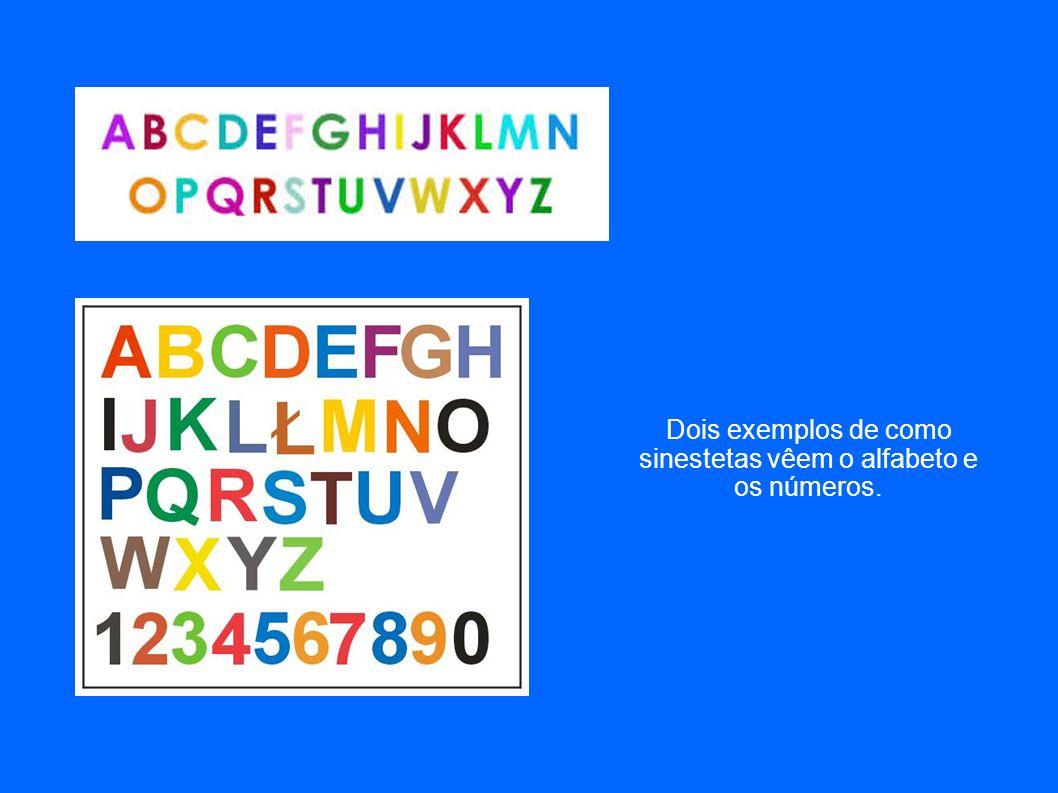 Sinestesia cor-grafema – associação de letras e números com cores especificas.