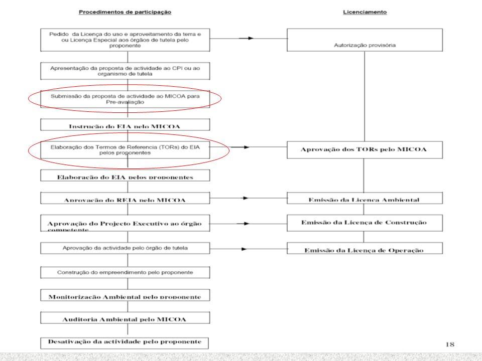 Pré-avaliação e definição do Âmbito Pré-avaliação (Screening) Definição do Âmbito (Scoping) Elaboração dos Termos de referência (Terms of Reference)