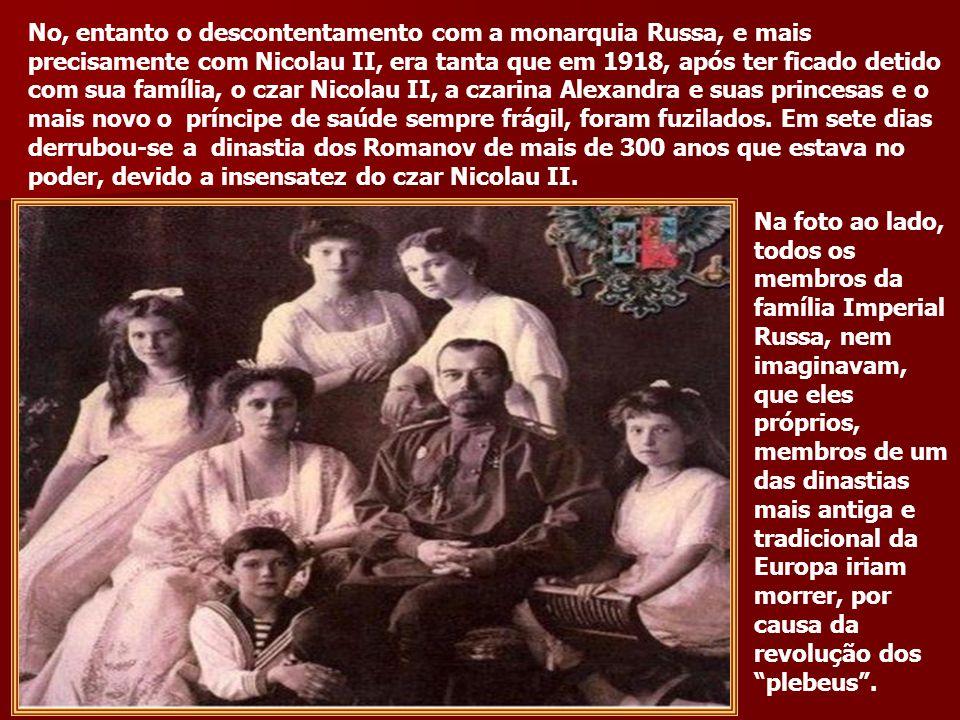 O quadro ao lado mostram, operários ocupando o Palácio de Inverno após a prisão do czar Nicolau II. Sociedade do futuro?