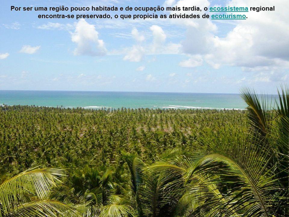Por ser uma região pouco habitada e de ocupação mais tardia, o ecossistema regional encontra-se preservado, o que propicia as atividades de ecoturismo