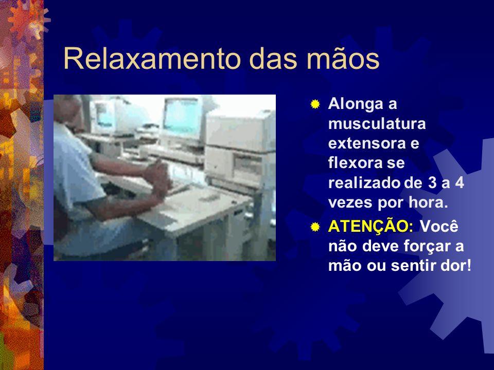 Referência Ginásticas de Relaxamento disponível em http://www.ergonomia.com.br/ acesso janeiro de 2009.http://www.ergonomia.com.br/