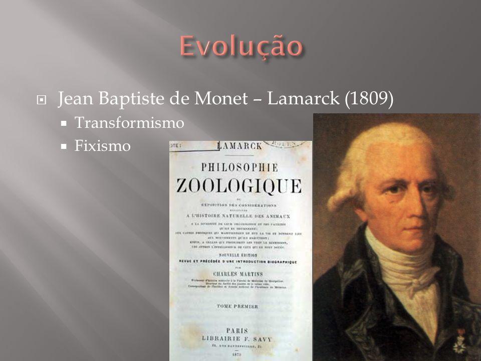 Jean Baptiste de Monet – Lamarck (1809) Transformismo Fixismo