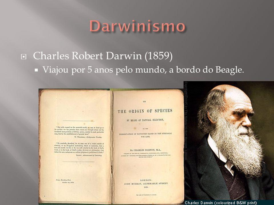 Charles Robert Darwin (1859) Viajou por 5 anos pelo mundo, a bordo do Beagle.