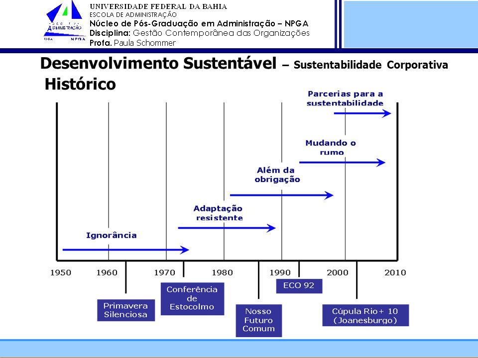 Desenvolvimento Sustentável – Sustentabilidade Corporativa Histórico