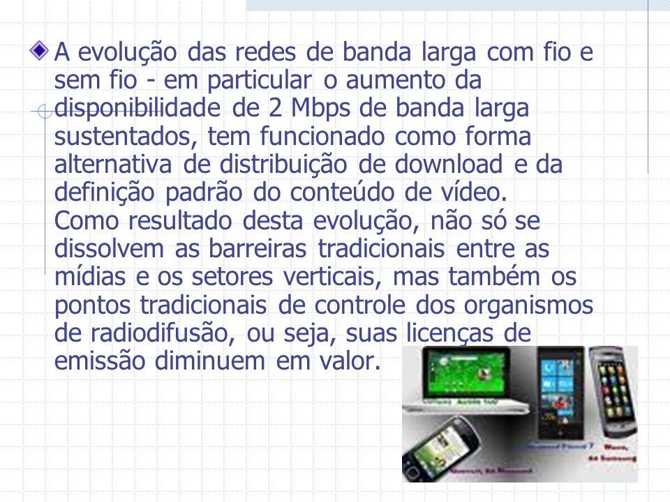 A evolução das redes de banda larga com fio e sem fio - em particular o aumento da disponibilidade de 2 Mbps de banda larga sustentados, tem funcionad