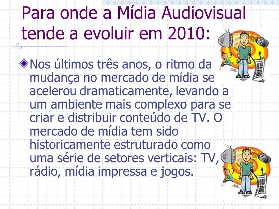 Para onde a Mídia Audiovisual tende a evoluir em 2010: Nos últimos três anos, o ritmo da mudança no mercado de mídia se acelerou dramaticamente, levan