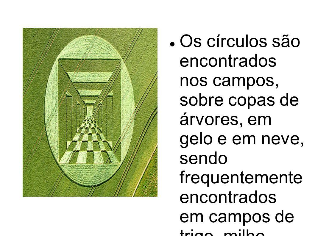 Os círculos são encontrados nos campos, sobre copas de árvores, em gelo e em neve, sendo frequentemente encontrados em campos de trigo, milho, aveia e cevada.