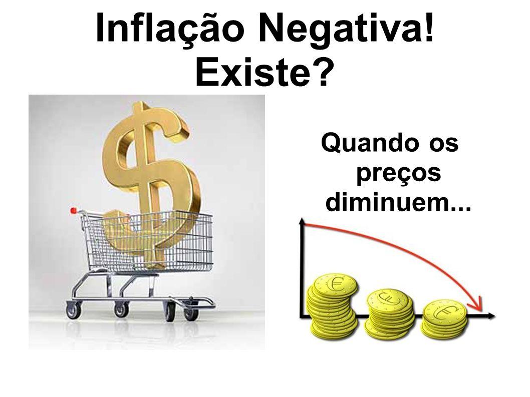 Inflação Negativa! Existe? Quando os preços diminuem...