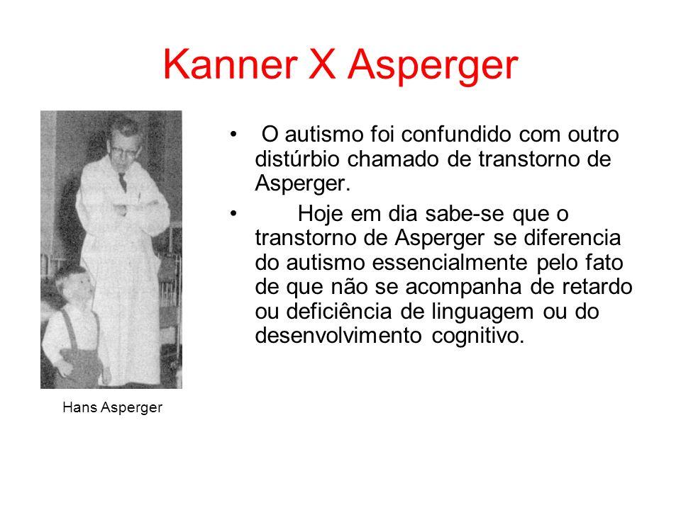 Kanner X Asperger O autismo foi confundido com outro distúrbio chamado de transtorno de Asperger.