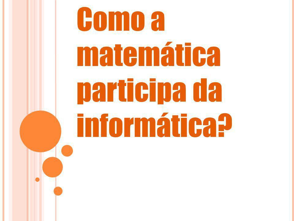 Como a matemática participa da informática?