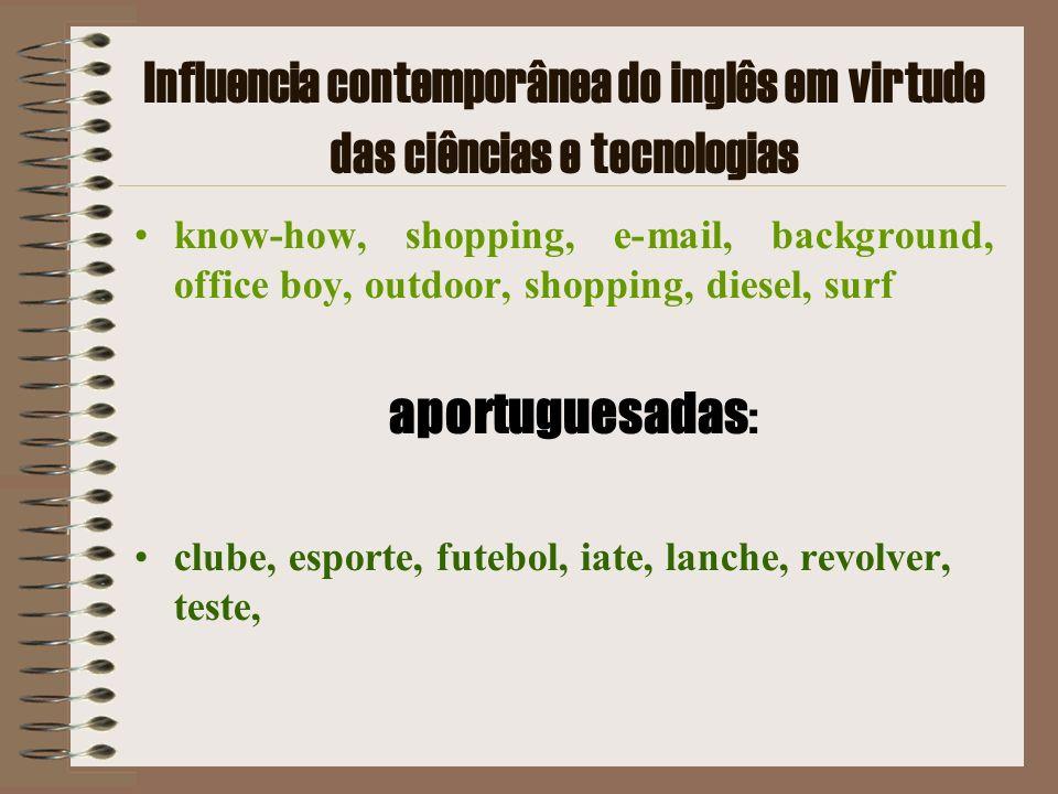 Influencia contemporânea do inglês em virtude das ciências e tecnologias know-how, shopping, e-mail, background, office boy, outdoor, shopping, diesel