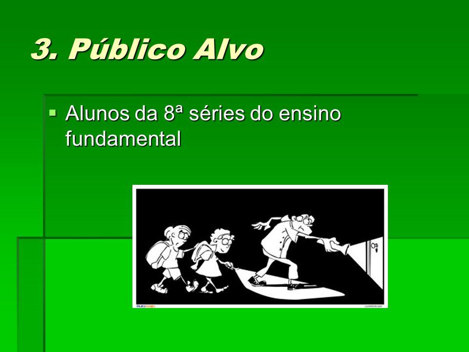 3. Público Alvo Alunos da 8ª séries do ensino fundamental Alunos da 8ª séries do ensino fundamental