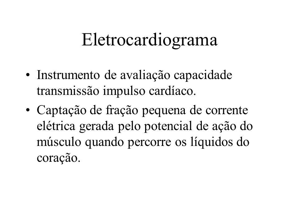 Eletrocardiograma Instrumento de avaliação capacidade transmissão impulso cardíaco.