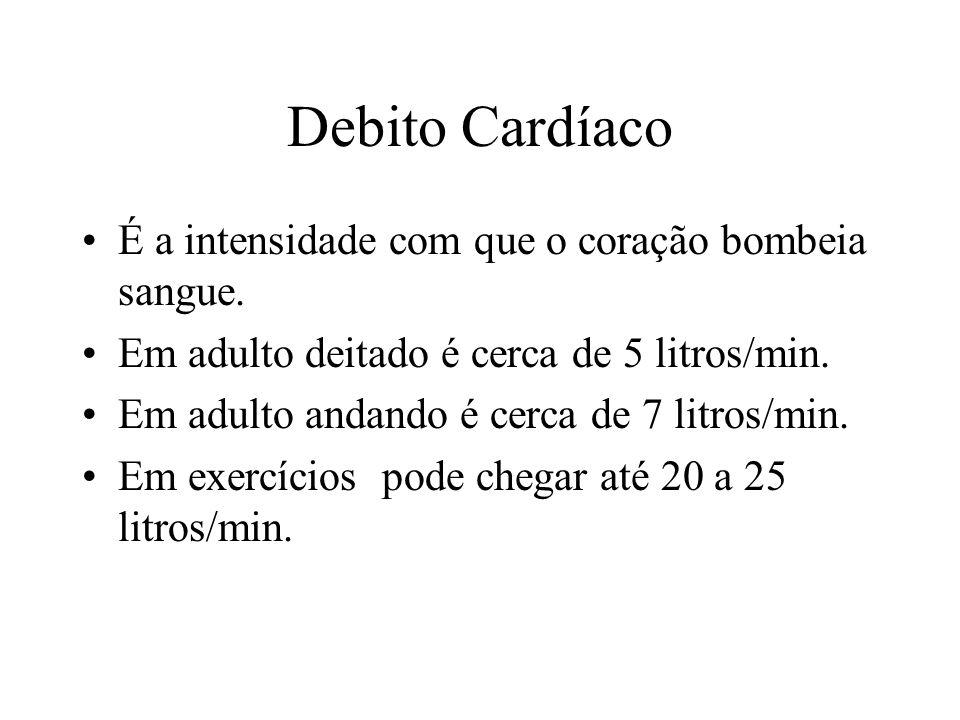 Debito Cardíaco É a intensidade com que o coração bombeia sangue.