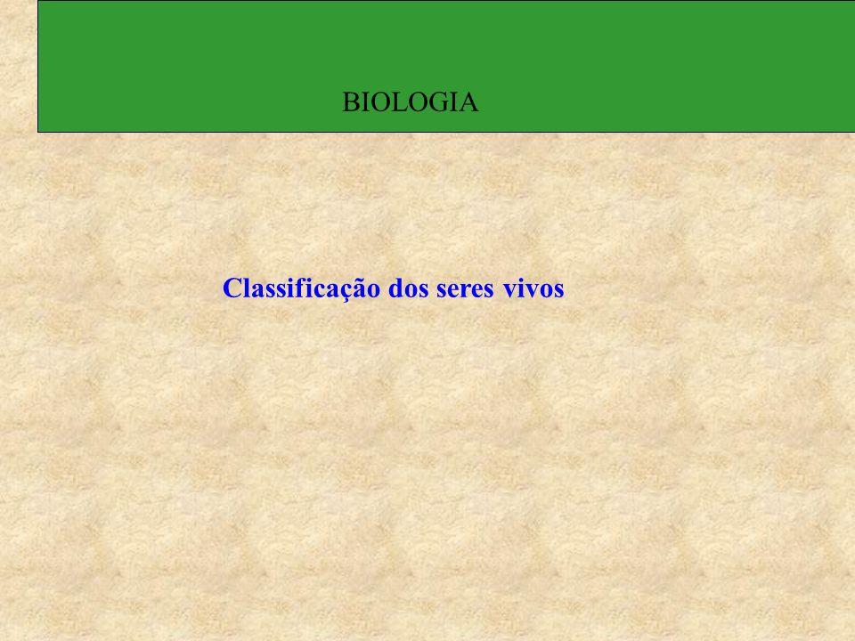 Classificação dos seres vivos BIOLOGIA