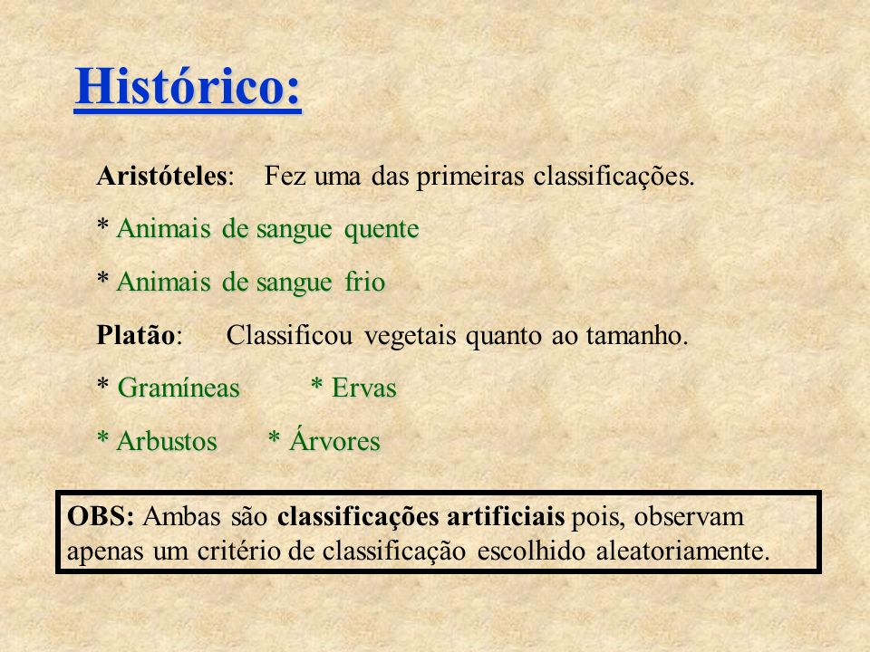 Categorias taxionômicas e o atual sistema de classificação biológica.