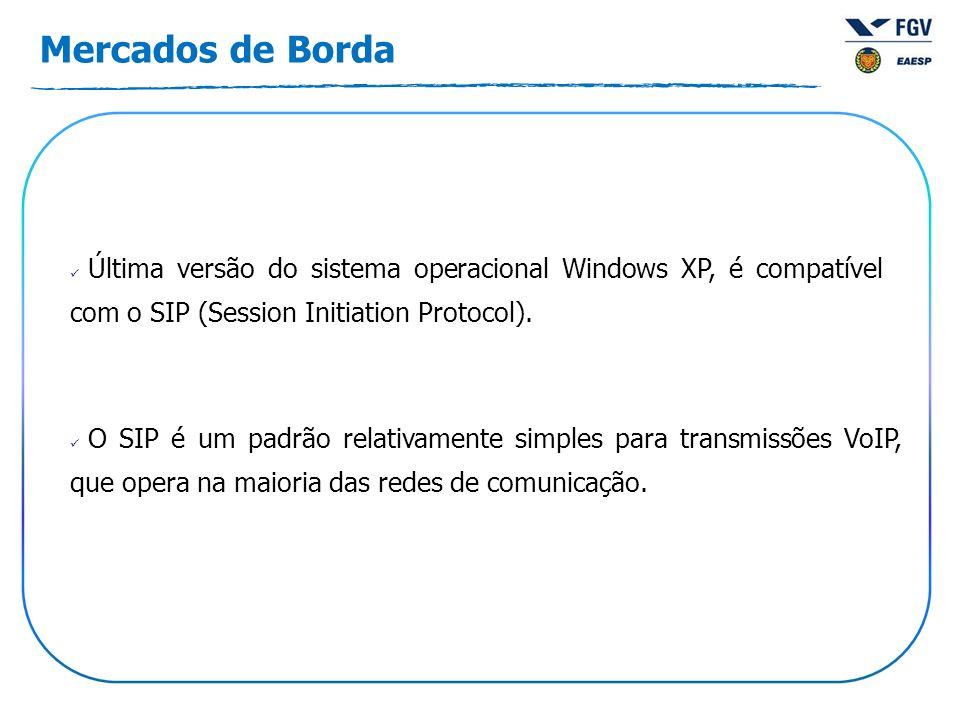Mercados de Borda Última versão do sistema operacional Windows XP, é compatível com o SIP (Session Initiation Protocol). O SIP é um padrão relativamen