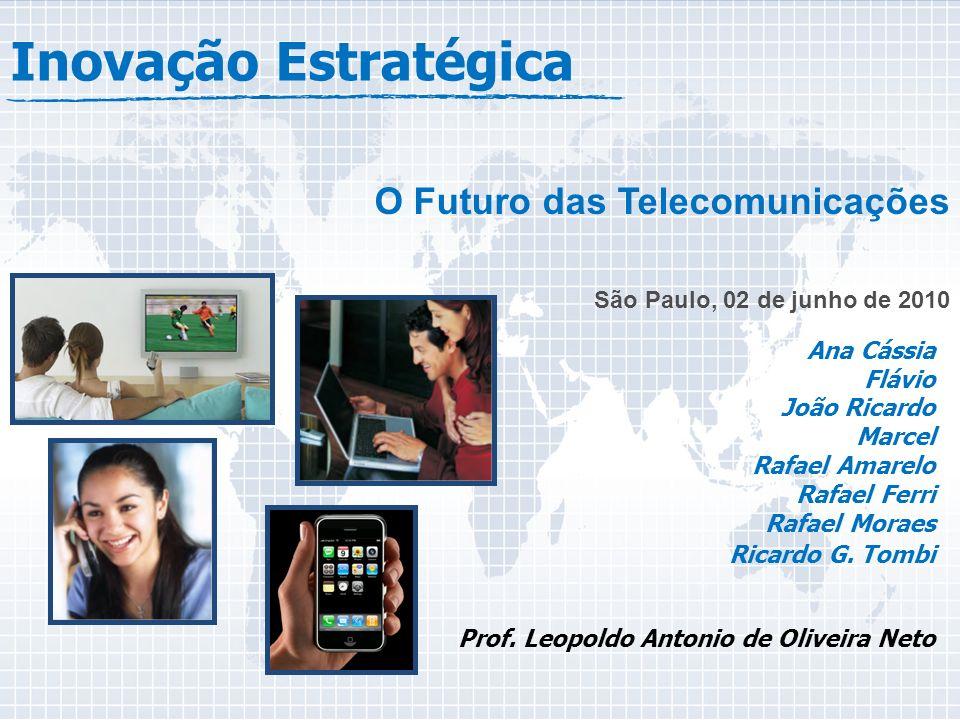 Inovação Estratégica O Futuro das Telecomunicações São Paulo, 02 de junho de 2010 Ana Cássia Flávio João Ricardo Marcel Rafael Amarelo Rafael Ferri Rafael Moraes Ricardo G.