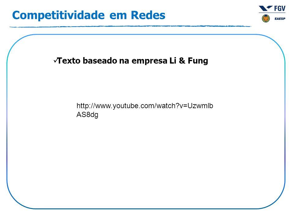 Competitividade em Redes Texto baseado na empresa Li & Fung http://www.youtube.com/watch v=Uzwmlb AS8dg