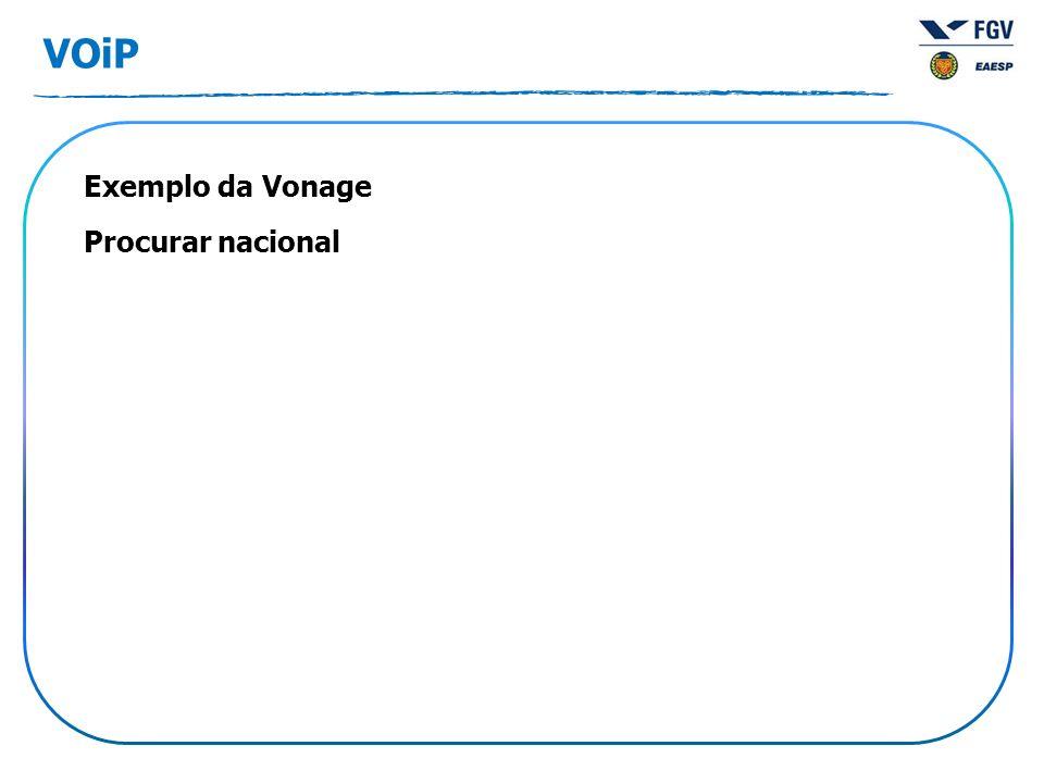 VOiP Exemplo da Vonage Procurar nacional