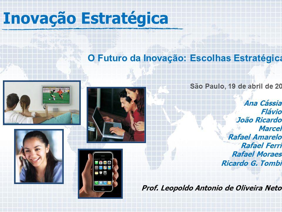 Inovação Estratégica O Futuro da Inovação: Escolhas Estratégicas São Paulo, 19 de abril de 2010 Ana Cássia Flávio João Ricardo Marcel Rafael Amarelo R