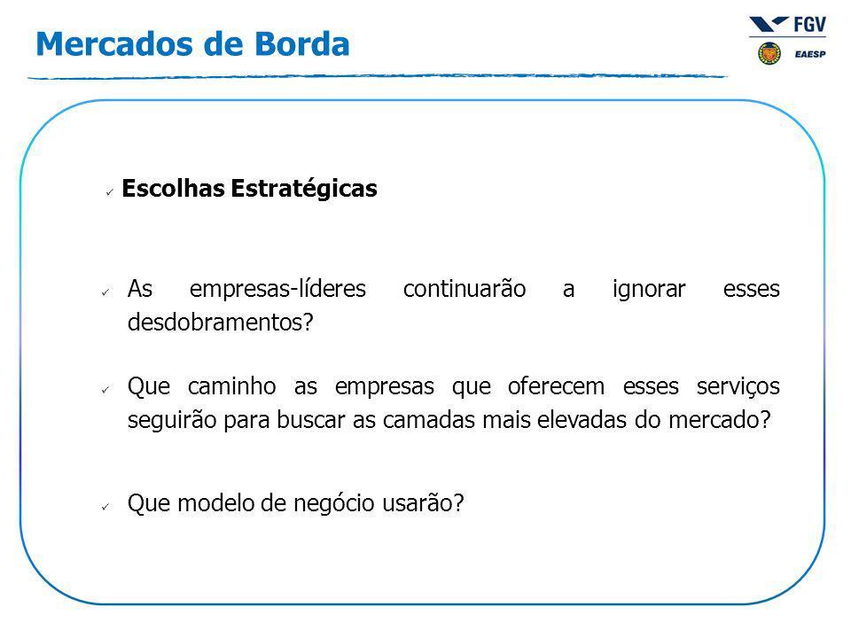 Mercados de Borda As empresas-líderes continuarão a ignorar esses desdobramentos.