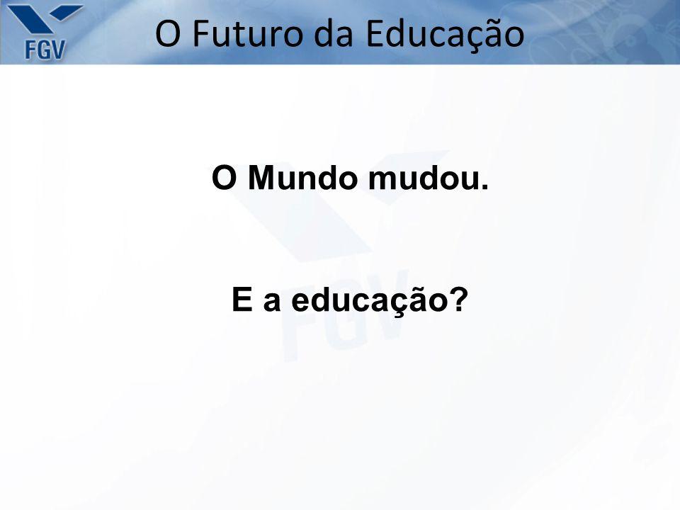 O Mundo mudou. E a educação? O Futuro da Educação