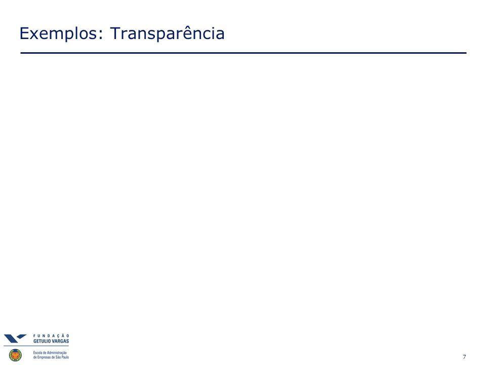 7 Exemplos: Transparência