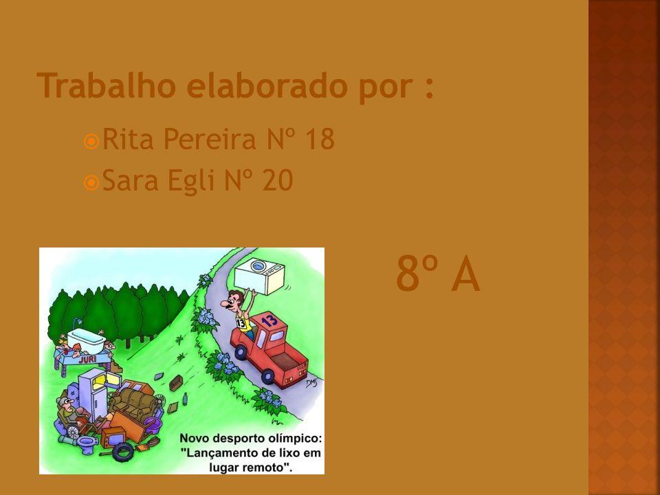 Rita Pereira Nº 18 Sara Egli Nº 20 8º A