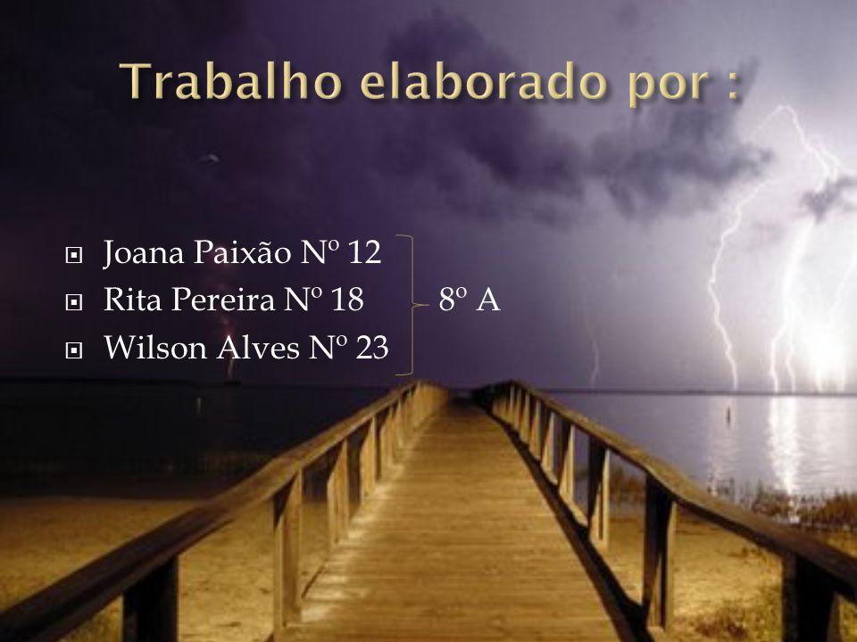 Joana Paixão Nº 12 Rita Pereira Nº 18 8º A Wilson Alves Nº 23