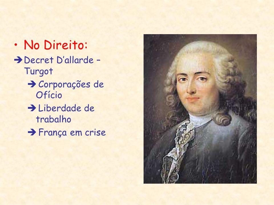 No Direito: Decret Dallarde – Turgot Corporações de Ofício Liberdade de trabalho França em crise