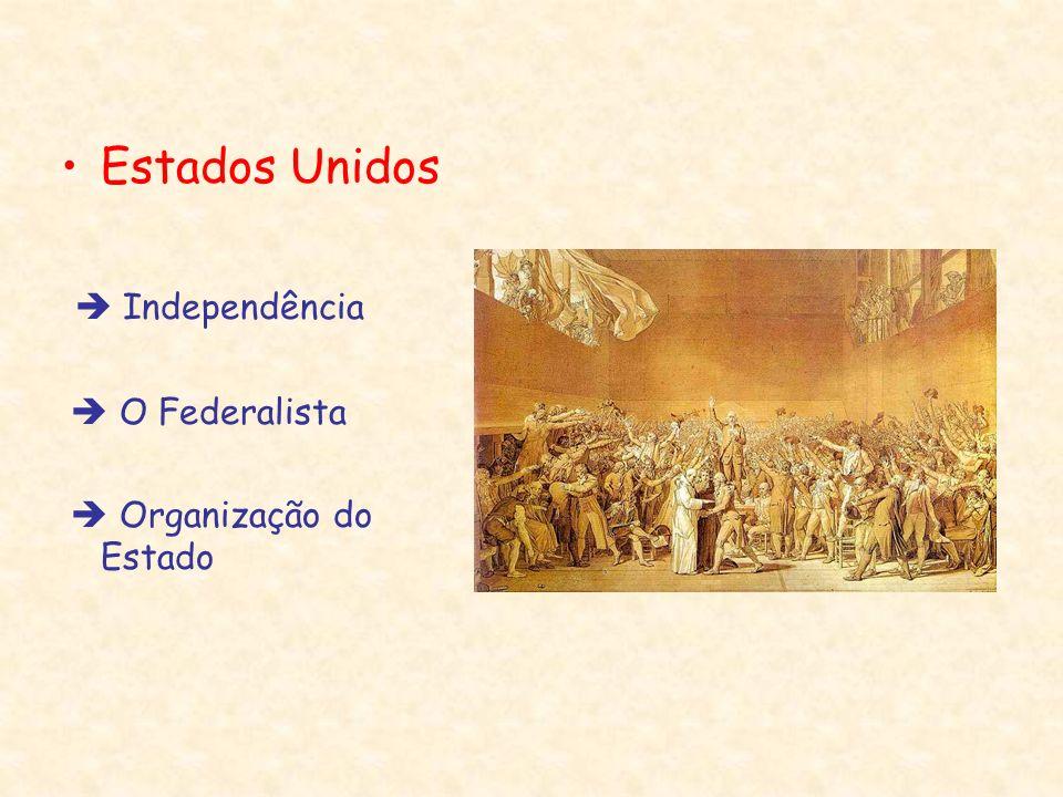 Estados Unidos Independência O Federalista Organização do Estado