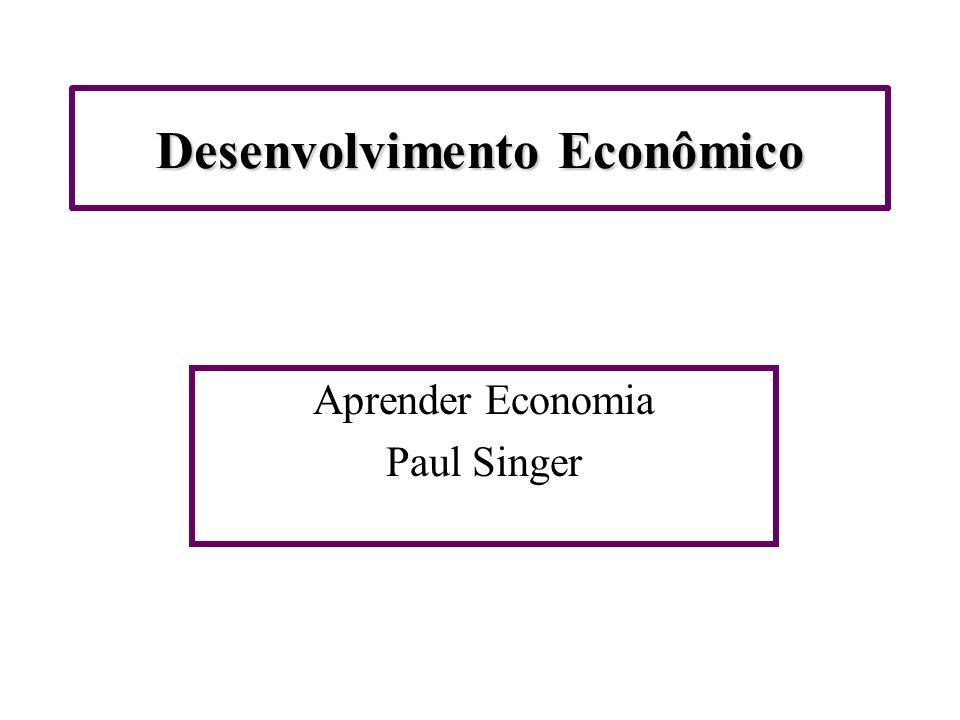 Desenvolvimento Econômico Aprender Economia Paul Singer