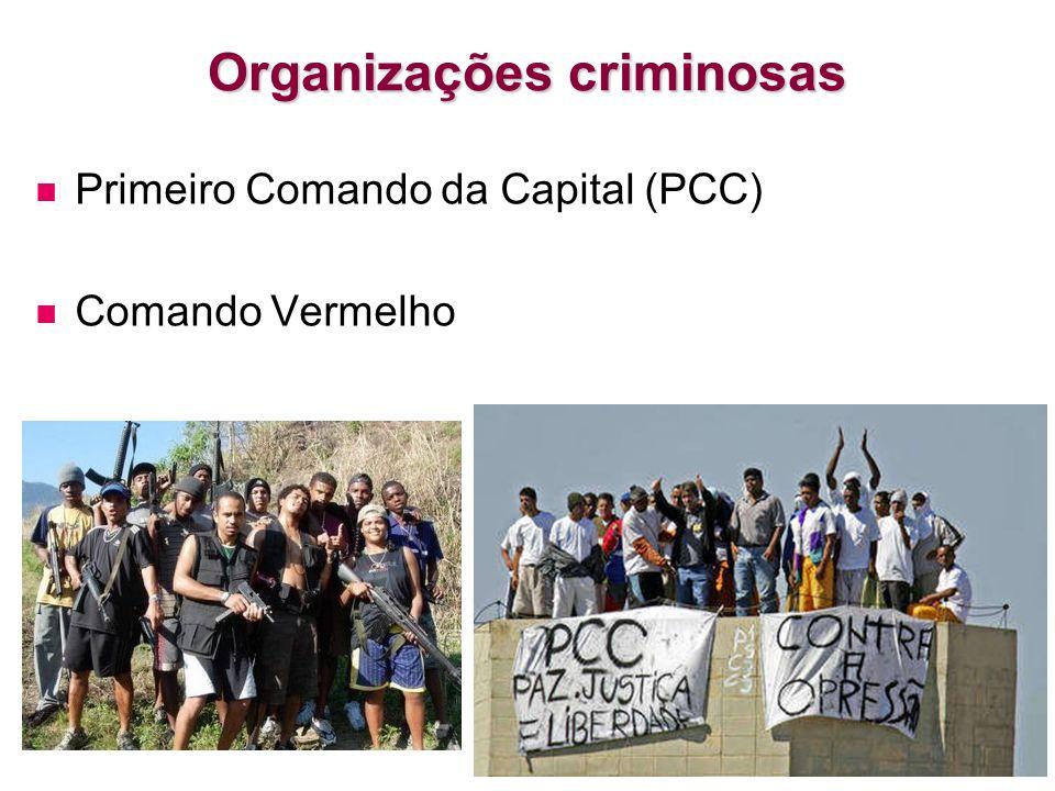 Organizações criminosas Primeiro Comando da Capital (PCC) Comando Vermelho