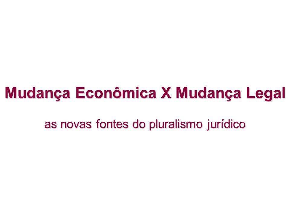 Mudança Econômica X Mudança Legal as novas fontes do pluralismo jurídico