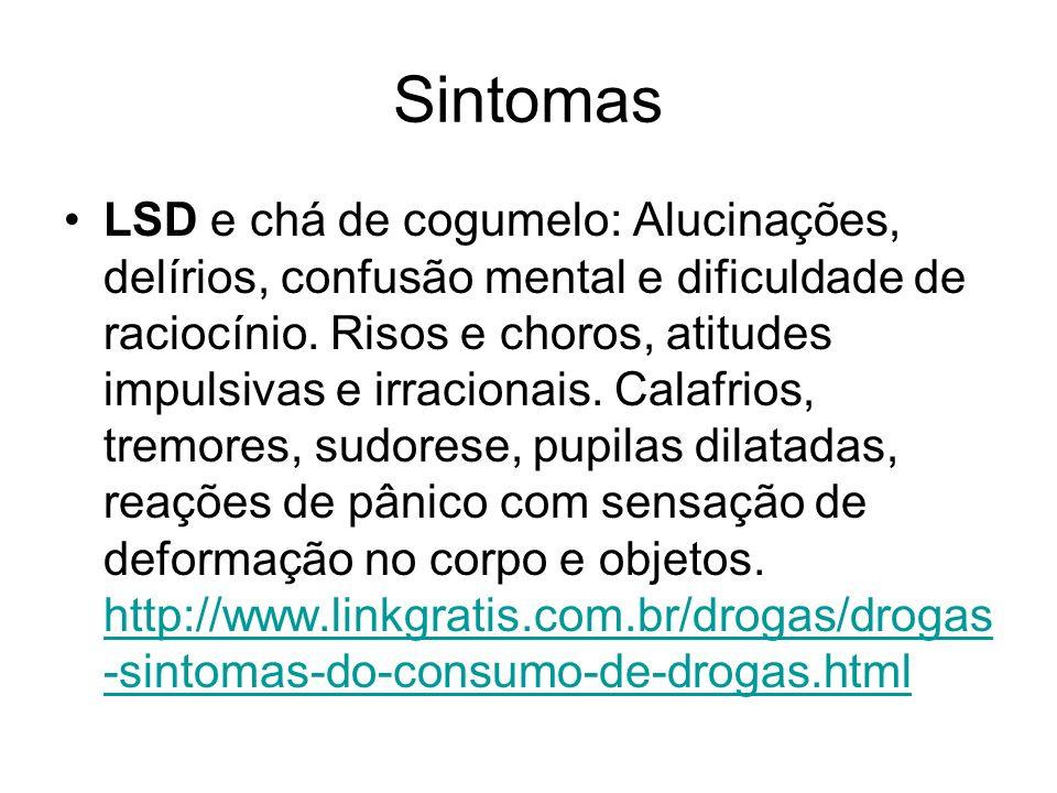 LSD pode causar Esquizofrenia.