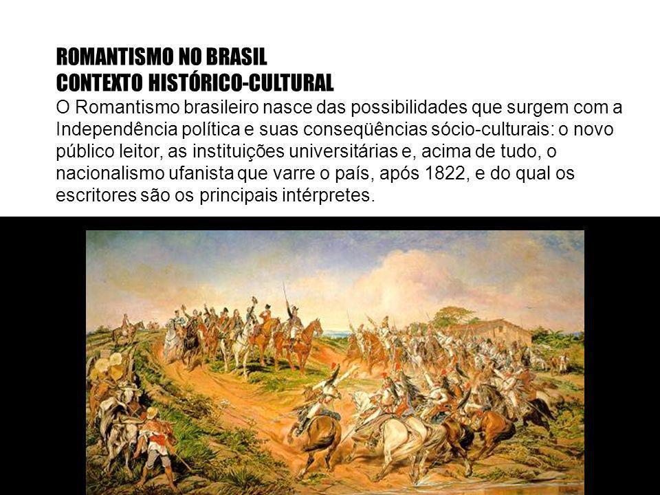 ROMANTISMO NO BRASIL CONTEXTO HISTÓRICO-CULTURAL O Romantismo brasileiro nasce das possibilidades que surgem com a Independência política e suas conse