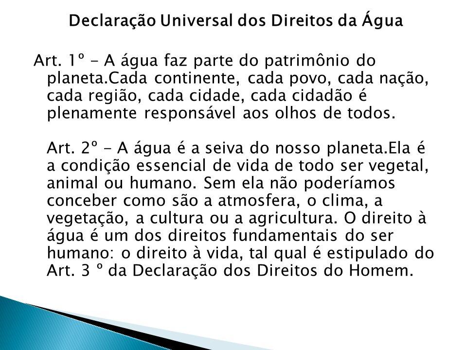 Declaração Universal dos Direitos da Água Art.