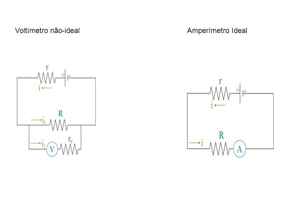 Voltímetro não-idealAmperímetro Ideal