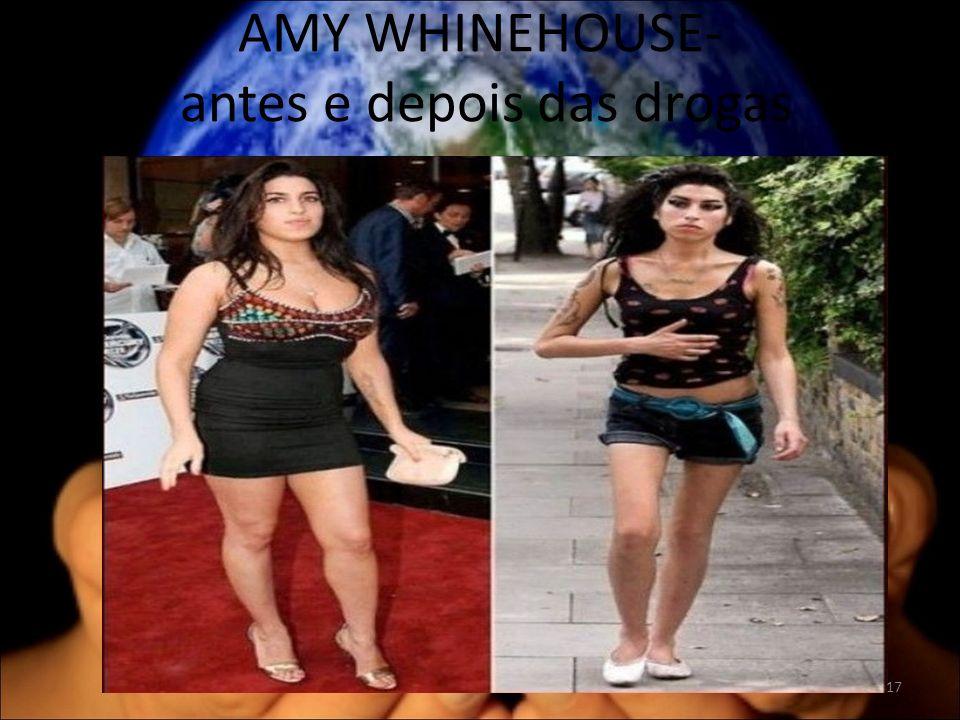 AMY WHINEHOUSE- antes e depois das drogas 17