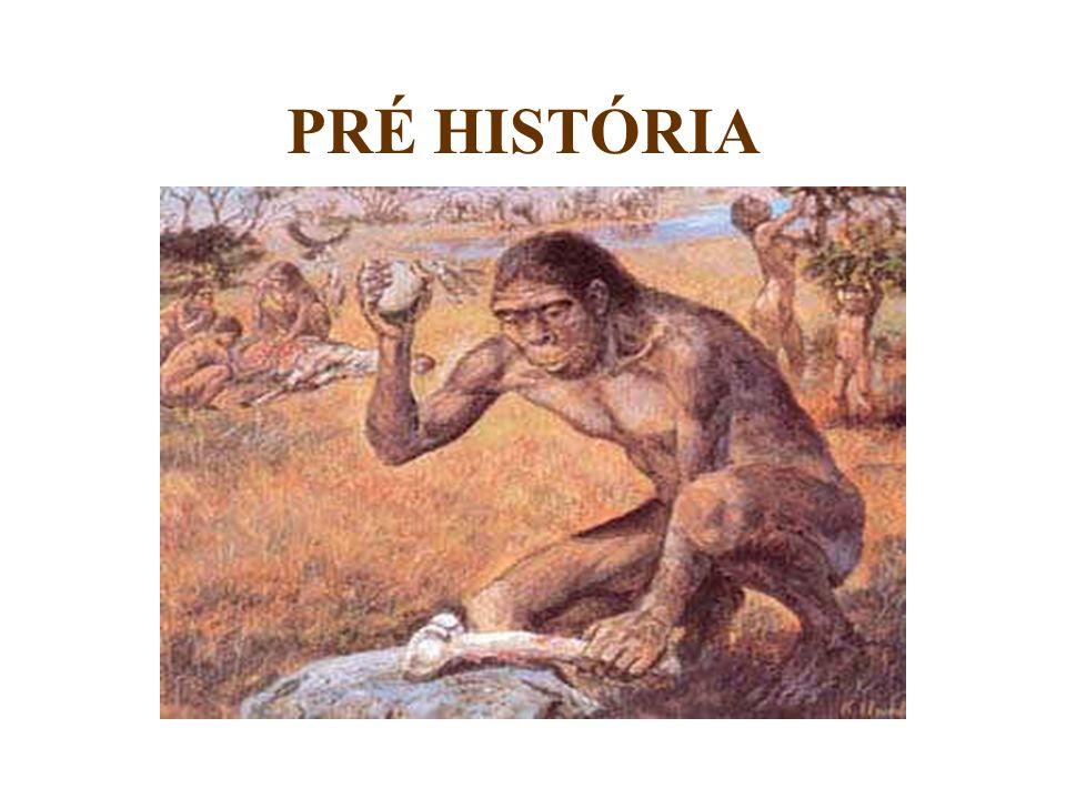 A Pré-História é o período que compreende desde o surgimento do homem até o aparecimento da escrita, por volta de 4000 a.C.