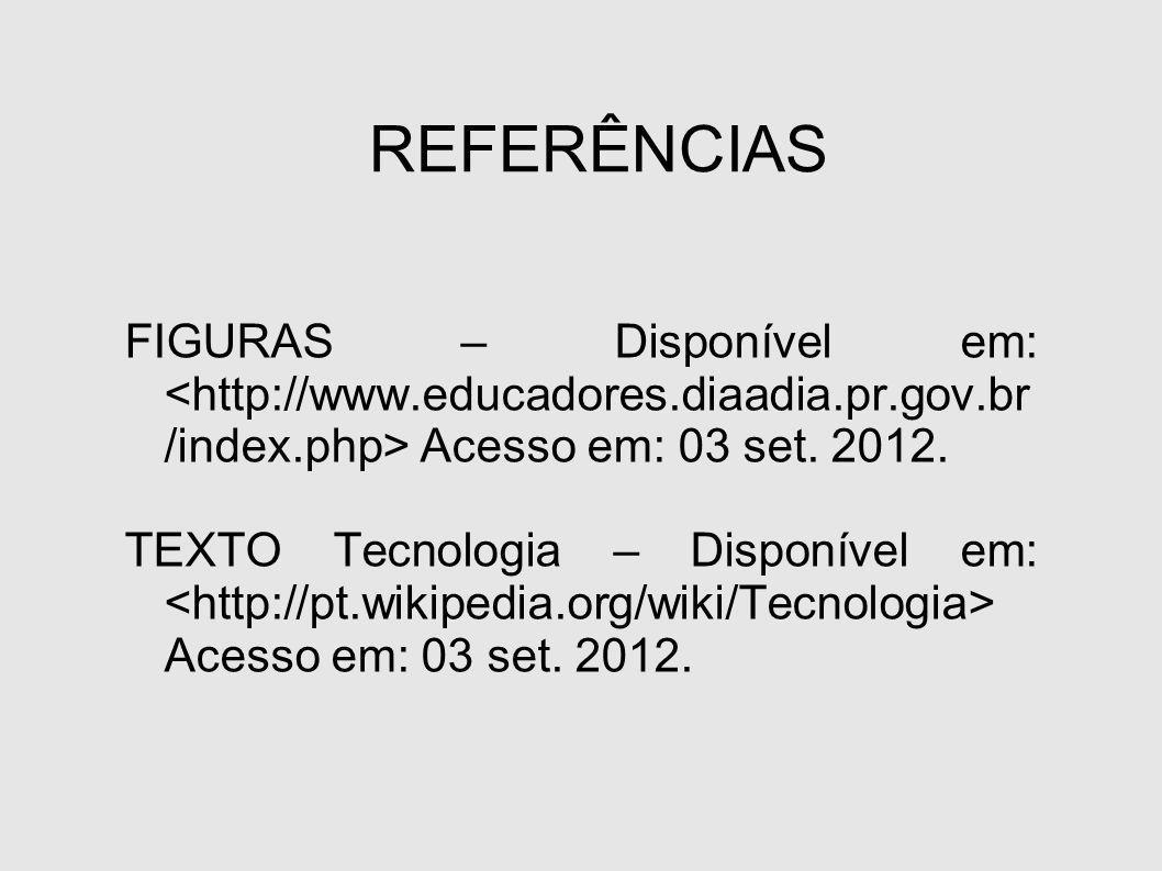 REFERÊNCIAS FIGURAS – Disponível em: Acesso em: 03 set.